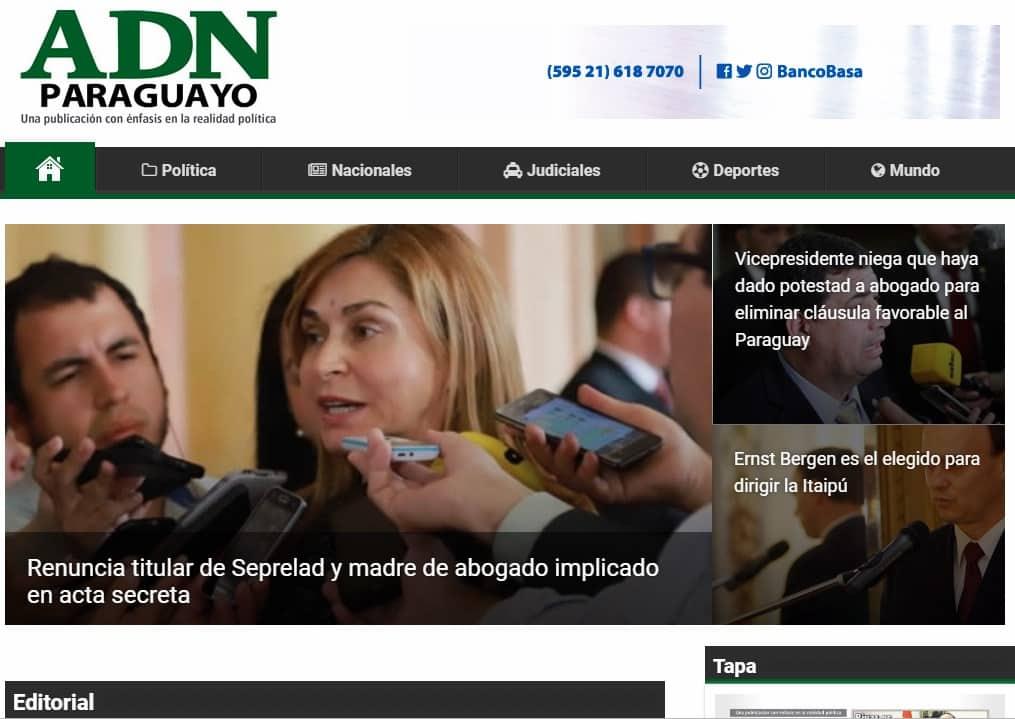 ADN Paraguayo noticias
