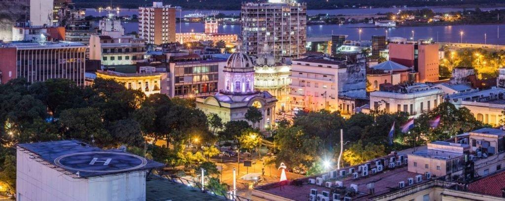 Vista desde arriba Asunción Capital del Paraguay