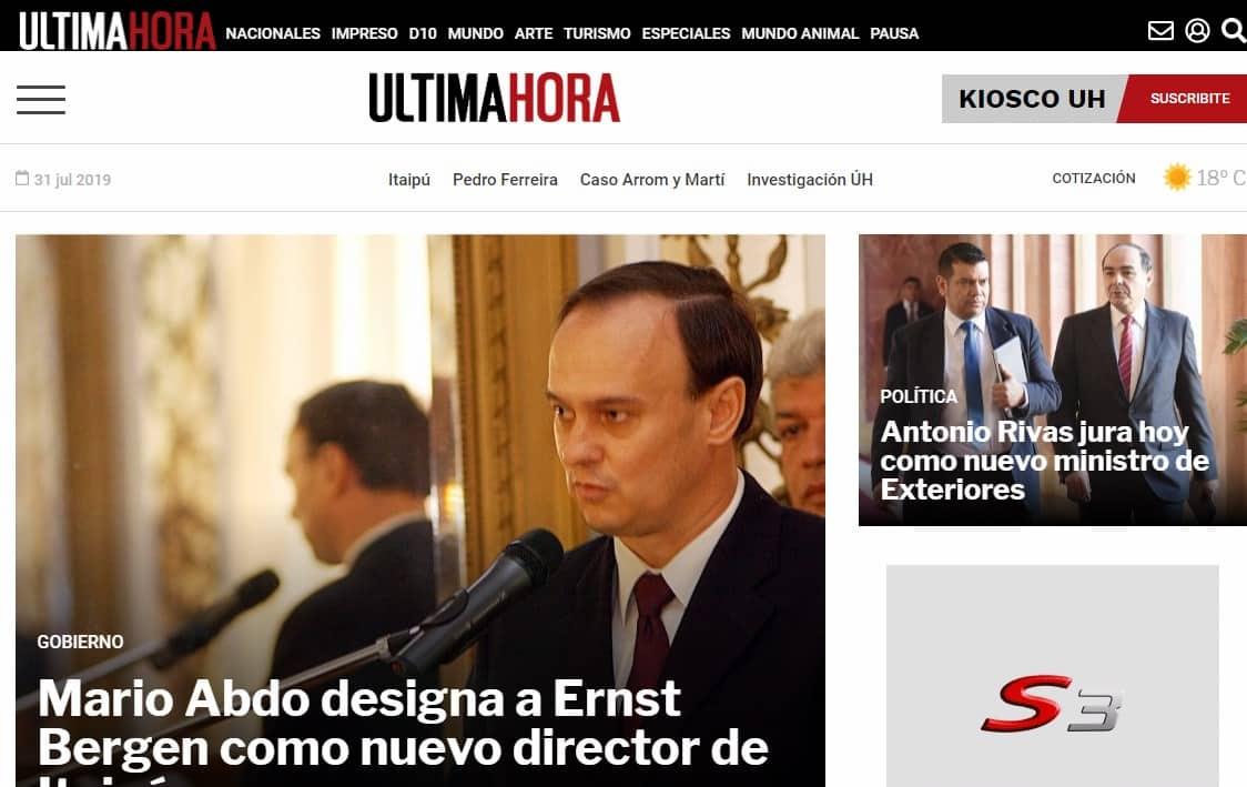 Diarios de paraguay Ultima Hora