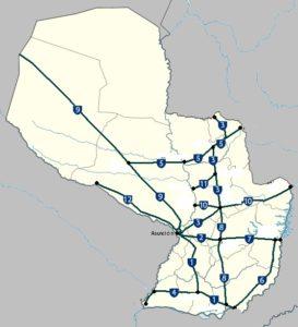 Mapas de rutas del Paraguay