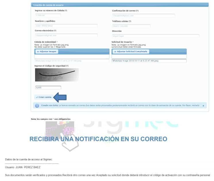 solicitar acceso a la SIGMEC del MEC